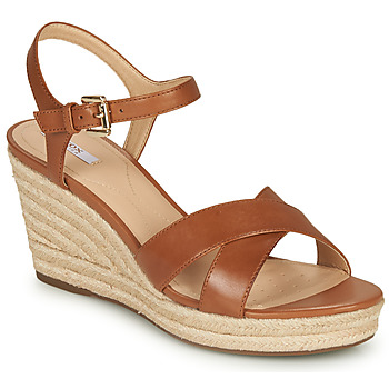 Shoes Women Sandals Geox D SOLEIL Cognac
