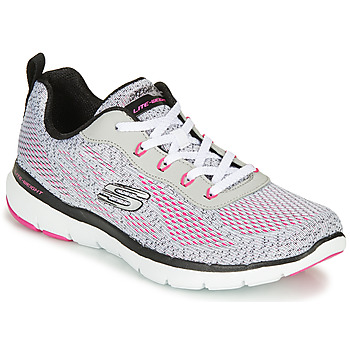 Shoes Women Fitness / Training Skechers FLEX APPEAL 3.0 Grey / Pink