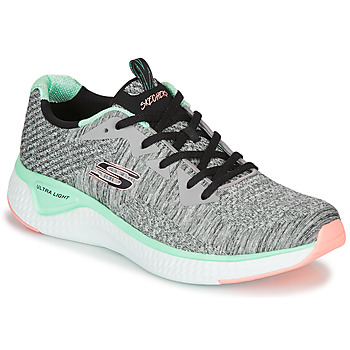 Shoes Women Fitness / Training Skechers SOLAR FUSE BRISK ESCAPE Grey / Green / Pink