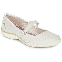 Shoes Women Ballerinas Skechers BREATHE-EASY Beige