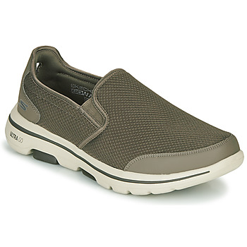 Shoes Men Slip ons Skechers GO WALK 5 Kaki