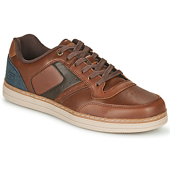 Shoes Men Low top trainers Skechers HESTON PELANO Brown / Blue