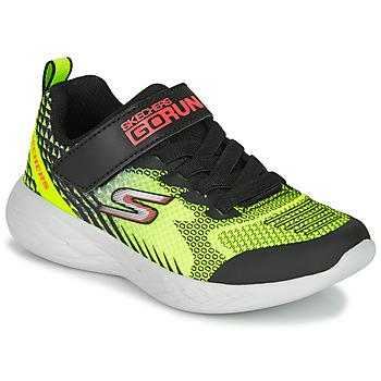 Shoes Boy Low top trainers Skechers GO RUN 600 BAXTUX Black / Yellow
