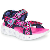 Shoes Girl Sports sandals Skechers HEART LIGHTS Pink / Black