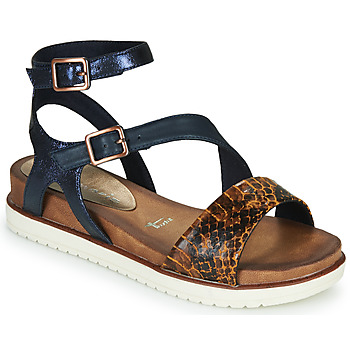 Shoes Women Sandals Tamaris NOLLA Marine / Brown