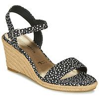 Shoes Women Sandals Tamaris LIVIA Black / White
