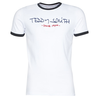 material Men short-sleeved t-shirts Teddy Smith RINGER TEE White