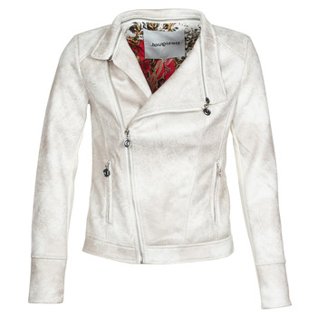 material Women Leather jackets / Imitation le Desigual BROWARD White