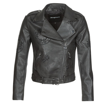 material Women Leather jackets / Imitation le Desigual UTAH Black