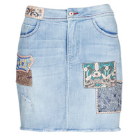 material Women Skirts Desigual PATTY Blue