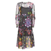 material Women Long Dresses Desigual PORTLAND Multicolour