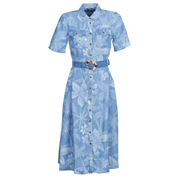 material Women Long Dresses Desigual KATE Blue