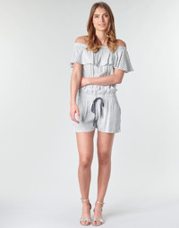 material Women Jumpsuits / Dungarees Deeluxe FAYME White / Blue