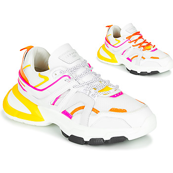 Shoes Women Low top trainers Serafini STELLA White / Orange / Yellow