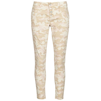 material Women 5-pocket trousers Cream PENORA Beige