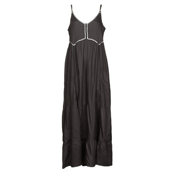 material Women Long Dresses Kaporal ANGEL Black