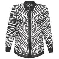 material Women Shirts Ikks BQ12105-03 Black / White