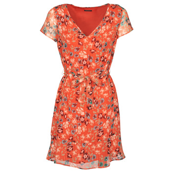 material Women Short Dresses Ikks BQ30275-37 Orange