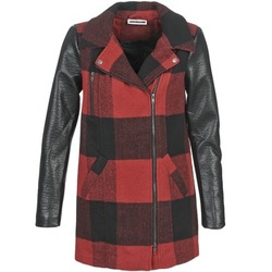 material Women coats Noisy May TEXAS Red / Black