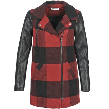 material Women coats Noisy May TEXAS Red / Black