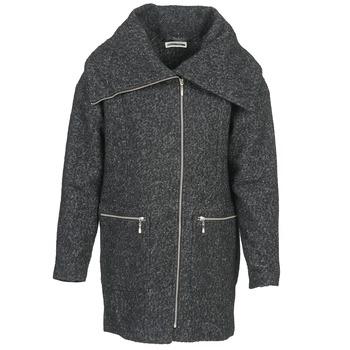 material Women coats Noisy May ROUND Grey / Black