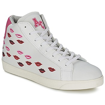 Shoes Women High top trainers American College KISS KISS White / Red