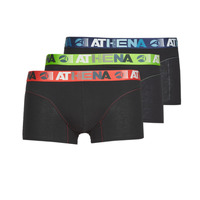 Underwear Men Boxer shorts Athena ENDURANCE 24H PACK X3 Black