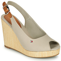 Shoes Women Sandals Tommy Hilfiger ICONIC ELENA SLING BACK WEDGE Grey