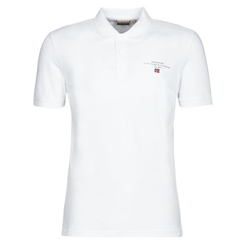 material Men short-sleeved polo shirts Napapijri ELBAS 3 White