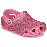 Shoes Girl Clogs Crocs CLASSIC GLITTER CLOG K Pink / Glitter