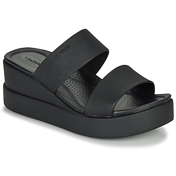 Shoes Women Sandals Crocs CROCS BROOKLYN MID WEDGE W Black