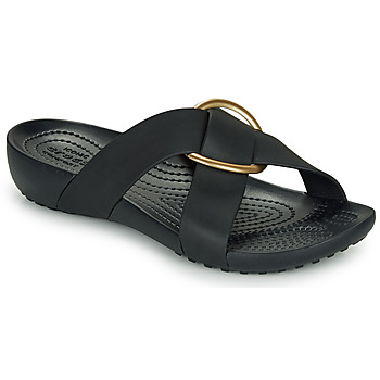 Shoes Women Mules Crocs CROCS SERENA CROSS BAND SLDE W Black