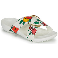 Shoes Women Mules Crocs CROCSSERENA PRNTD CRSSBND SLDW White / Red