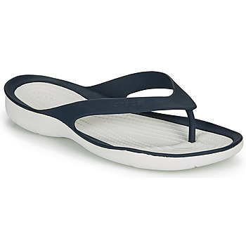 Shoes Women Flip flops Crocs SWIFTWATER FLIP W Marine / White