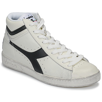 Shoes High top trainers Diadora GAME L HIGH WAXED White / Black