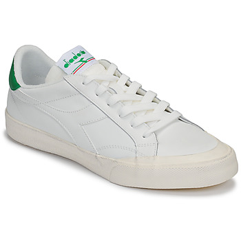 Shoes Women Low top trainers Diadora MELODY LEATHER DIRTY White / Green
