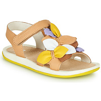 Shoes Girl Sandals Camper TWINS Brown / Yellow