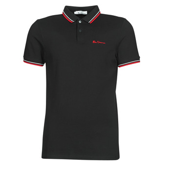 material Men short-sleeved polo shirts Ben Sherman SIGNATURE POLO Black / Red / White