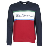 material Men sweaters Ben Sherman COLOUR BLOCKED LOGO SWEAT Marine / Red