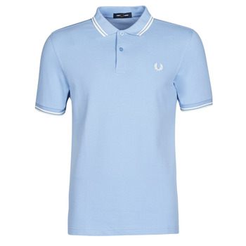 material Men short-sleeved polo shirts Fred Perry TWIN TIPPED FRED PERRY SHIRT Blue