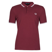 material Men short-sleeved polo shirts Fred Perry TWIN TIPPED FRED PERRY SHIRT Bordeaux
