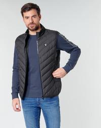 material Men Duffel coats Emporio Armani EA7 TRAIN CORE SHIELD M DOWN LIGHT VEST Black