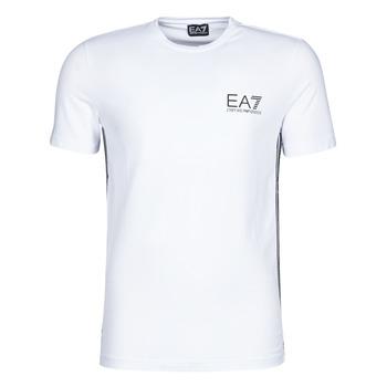 material Men short-sleeved t-shirts Emporio Armani EA7 TRAIN LOGO SERIES M TAPE TEE ST White