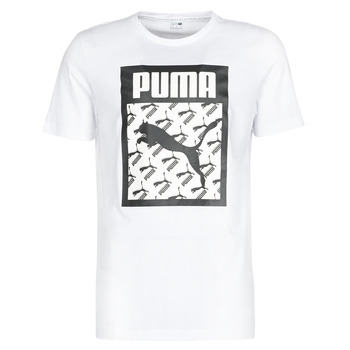 material Men short-sleeved t-shirts Puma LOGO TEE LOGO FILL Black