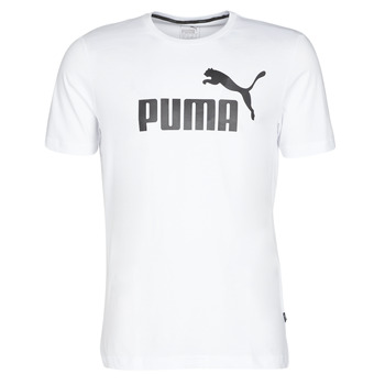 material Men short-sleeved t-shirts Puma ESSENTIAL TEE White