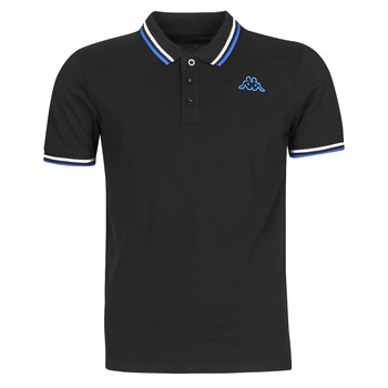 material Men short-sleeved polo shirts Kappa ESMO Black / White / Blue