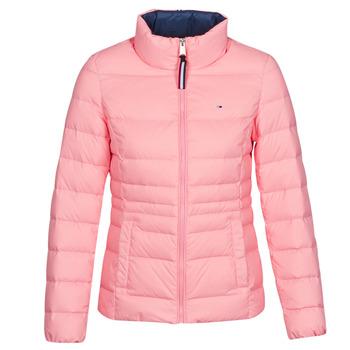 material Women Duffel coats Tommy Jeans MODERN DOWN JKT Pink