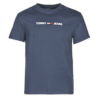 material Men short-sleeved t-shirts Tommy Jeans TJM STRAIGHT SMALL LOGO Marine