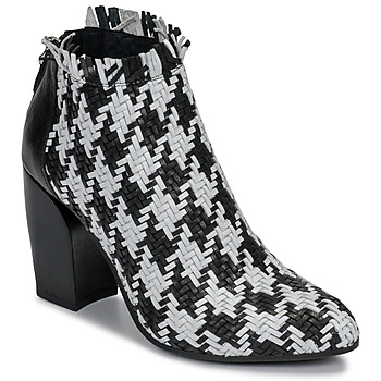 Shoes Women Low boots Mimmu JESTINE Black / White
