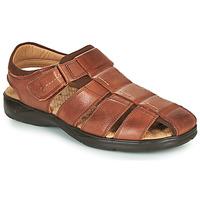 Shoes Men Sandals Fluchos DOZER Brown